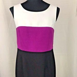 Black Label Evan Picone Dress Size 8 Black White